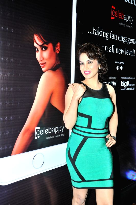 Smita Gondkar during the launch of mobile application, Smita Gondkar app, in Mumbai, on July 22, 2016.