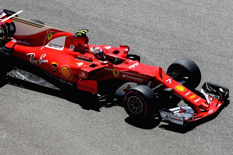 SOCHI, April 29, 2017 - Ferrari driver Kimi Raikkonen of Finland races during the third practice session of the Formula One Russian Grand Prix at the Sochi Autodrom circuit in Sochi, Russia, April ...