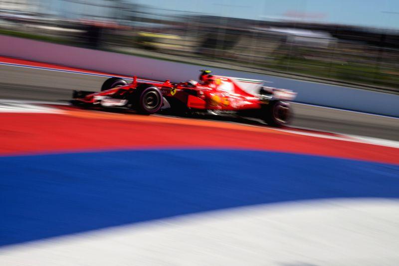 SOCHI, April 30, 2017 - Ferrari driver Kimi Raikkonen of Finland drives during the Formula One Russian Grand Prix at the Sochi Autodrom circuit in Sochi, Russia, on April 30, 2017.