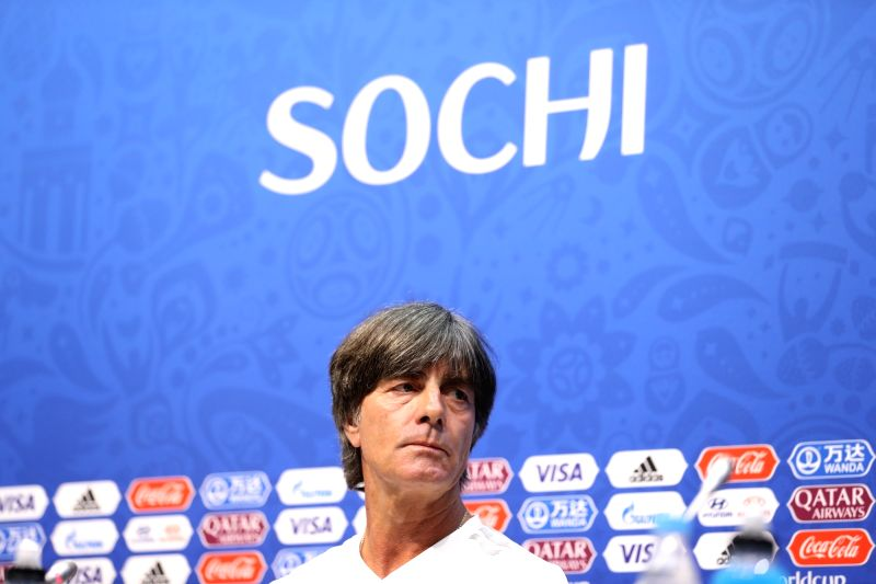 SOCHI, June 22, 2018 - Germany's head coach Joachim Loew attends a press conference prior to the 2018 FIFA World Cup Group F match between Germany and Sweden in Sochi, Russia, on June 22, 2018.