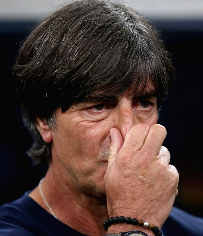 SOCHI, June 23, 2018 - Germany's head coach Joachim Loew is seen prior to the 2018 FIFA World Cup Group F match between Germany and Sweden in Sochi, Russia, June 23, 2018.