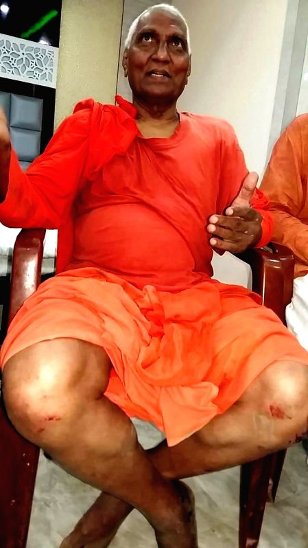 "Social activist Swami Agnivesh sustained injuries after suspected Bharatiya Janata Yuva Morcha (BJYM) activists thrashed him while shouting ""Jai Shri Ram"" slogans in Jharkhand's ..."