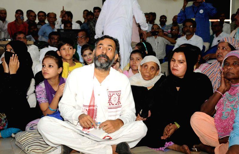 Social Scientist Yogendra Yadav during Swaraj Sankalp - National Delegate Convention of Sawaraj Abhiyan in New Delhi on July 31, 2016. - Scientist Yogendra Yadav
