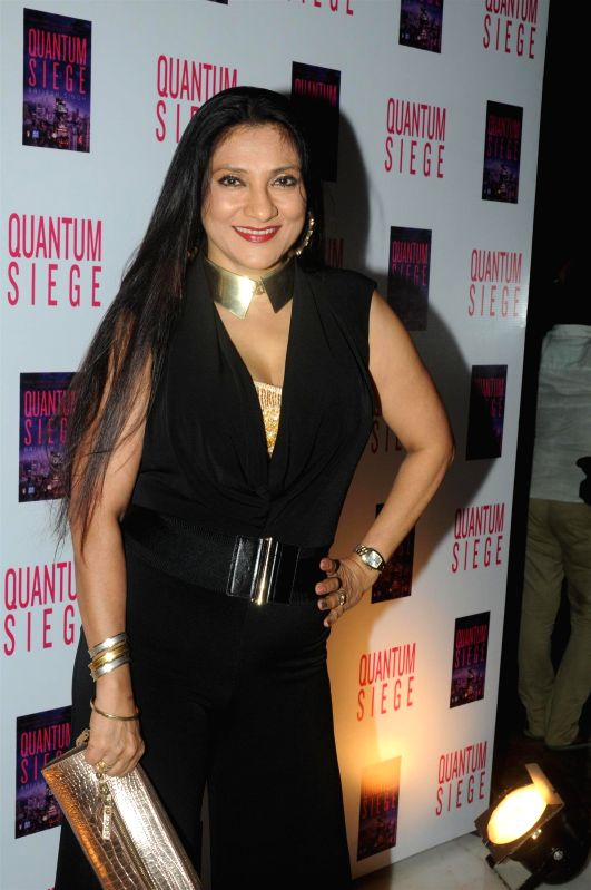 Socialite Aarti Surendranath during the book launch of Brijesh Singh's new book Quantam Siege in Mumbai on June 21, 2014. - Brijesh Singh