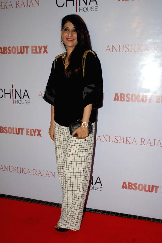 Socialite Azmina Rahimtoola during the Absolut Elix and Anushka Ranjan fashion preview in Mumbai, on July 31, 2014.