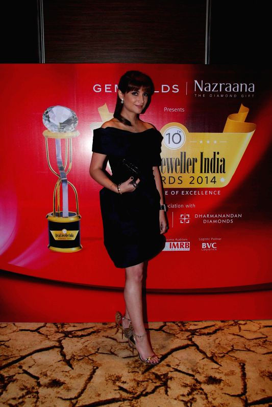 Socialite Michelle Poonawala during the jury meets for the 10th annual Gemfields and Nazraana Retail Jeweller India Awards 2014 at Hotel Sahara Star in Mumbai on July 3, 2014.