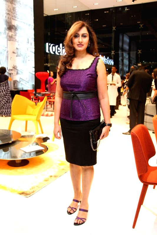 Socialite Partho during Roche Bobois store launch in Bangalore on Nov 28, 2015.