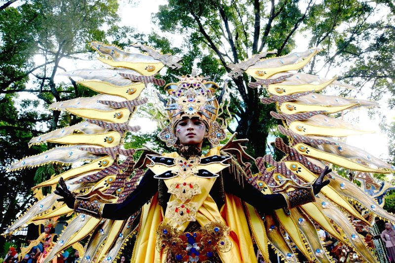 SOLO, July 25, 2016 - A model performs during Solo Batik Carnival in Solo, Indonesia on July 24, 2016.