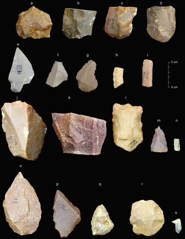 Some typical artefacts from Middle Palaeolithic cultural phases at Attirampakkam. (Credit: Sharma Centre for Heritage Education, India)