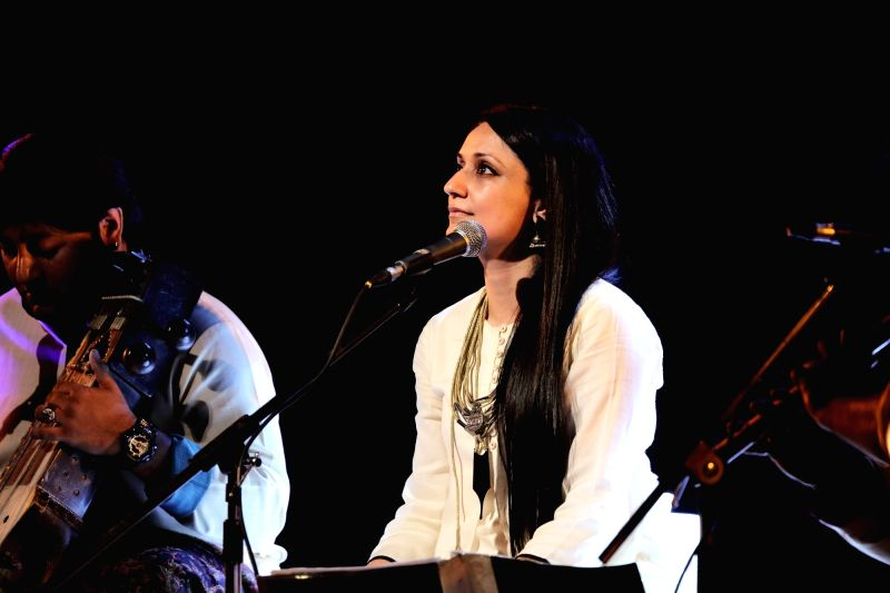 """Sonam Kalra during performance of """"Partition: Stories of Separation""""."""