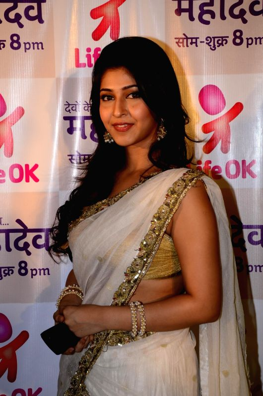 Sonarika Bhadoria on the sets on Devon Ke Dev Mahadev.