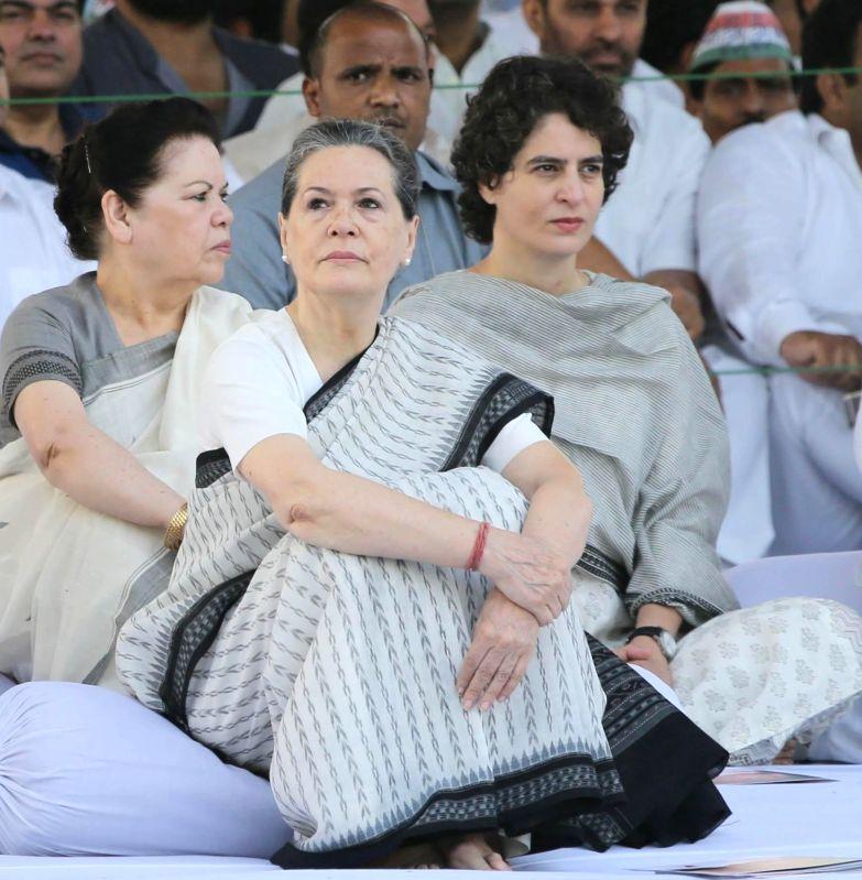 Sonia Gandhi and Priyanka Gandhi.