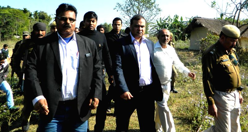Former Health and Education Minister of Assam  Dr. Himanta Biswa Sarma visits Hatijuli area where six people were gunned down by the NDFB (S) militants under Dhekiajuli PS in Sonitpur ...