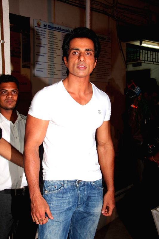 Sonu Sood At Baisakhi during the Baisakhi celebrations organized by the Punjabi Cultural Heritage Board in Mumbai on April 11, 2014.