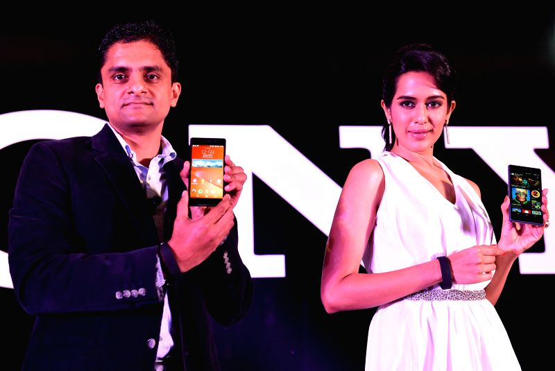 Sony Xperia Business Head Sachin Rai during launch of a mobile phone in Chennai on May 13, 2014.
