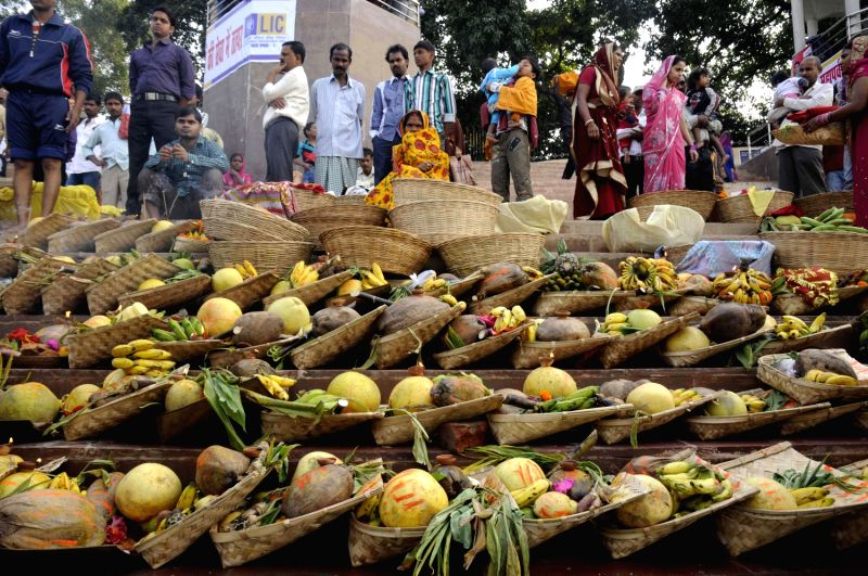 `Soops` and `Dalas` on the banks of Ganges during Chhath Puja in Patna