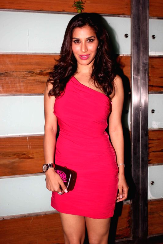 Sophie Chaudhary during film Shootout at Wadala success party at Ekta Kapoor`s bungalow in Mumbai on Sunday, May 5, 2013 - Sophie Chaudhary and Ekta Kapoor