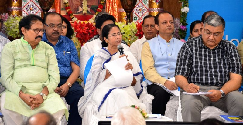 South 24 Parganas: West Bengal Chief Minister Mamata Banerjee during an administrative meeting in South 24 Parganas of the state on June 2, 2017. - Mamata Banerjee
