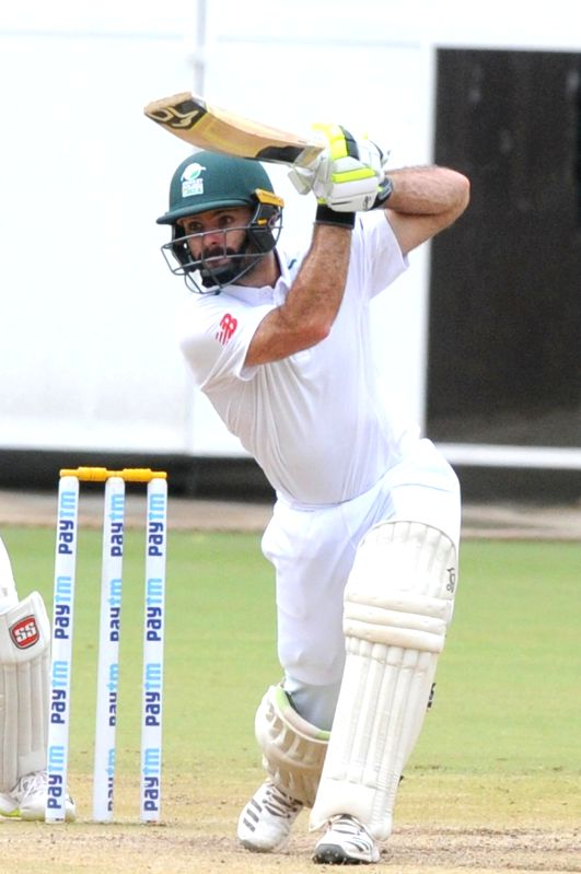 South Africa A batsman Rudi Second in action during the final day of four day test match between India A and South Africa A at M Chinnaswamy Stadium, in Bengaluru on Aug 7, 2018. India A ... - Rudi Second