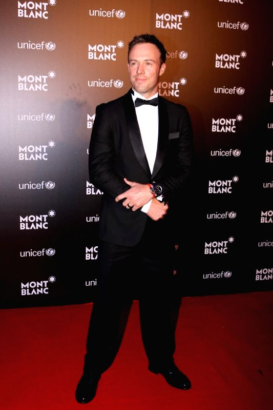 South African cricket player AB de Villiers during the Montblanc UNICEF event in Mumbai on May 2, 2017.