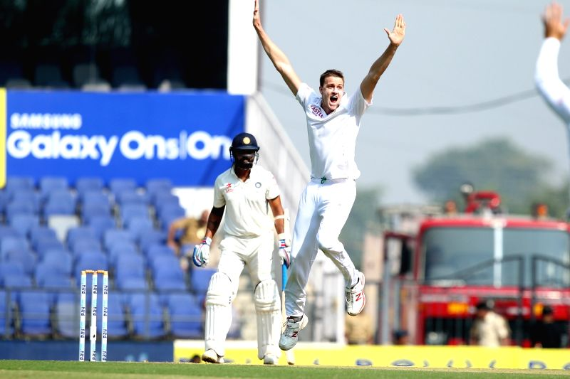 South African cricketer Morne Morkel appeals during the Day-1 of the third test match between India and South Africa at Vidarbha Cricket Association Stadium in Nagpur  on Nov 25, 2015.