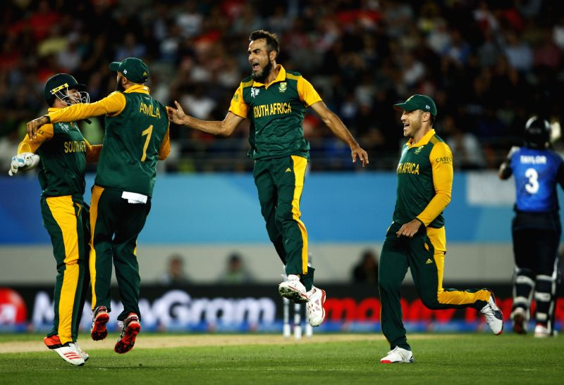 South African players celebrates.