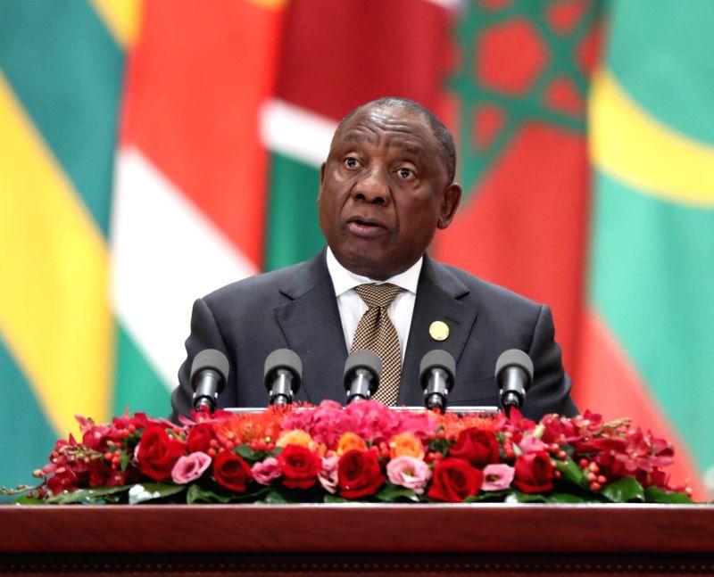South African President Cyril Ramaphosa . (File Photo: Xinhua/Liu Weibing/IANS)