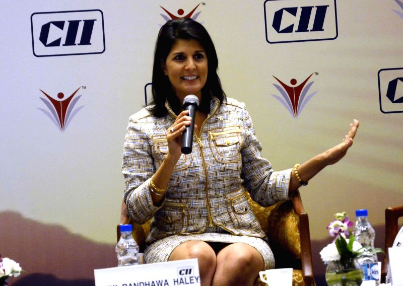 South Carolina (United States) Governor Nikki Haley during a CII conference on `Women in Leadership` in Mumbai on Nov 20, 2014.