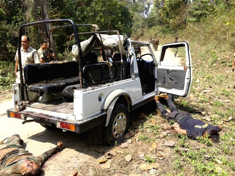 South Garo Hills: Four policemen were killed and two others injured in Meghalaya when tribal militants ambushed a police team in South Garo Hills district bordering Bangladesh on March 10, 2015. A ...