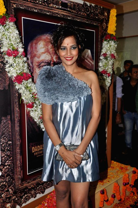 South Indian actor Tanisha Singh during the 145th Dadasaheb Phalke Awards ceremony in Mumbai on April 30, 2014. - Tanisha Singh