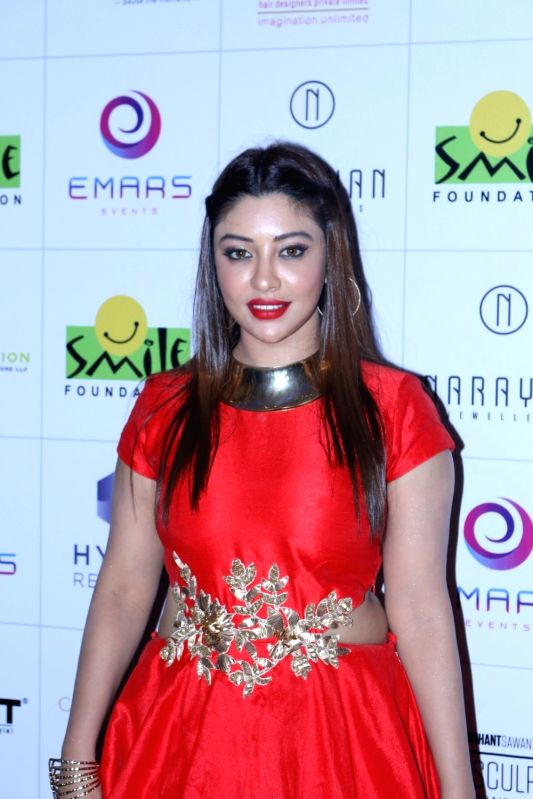 South Indian film actor Payal Ghosh during the 11th edition of Ramp for Champs organised by NGO Smile Foundation, in Mumbai on Oct 13, 2016. - Payal Ghosh
