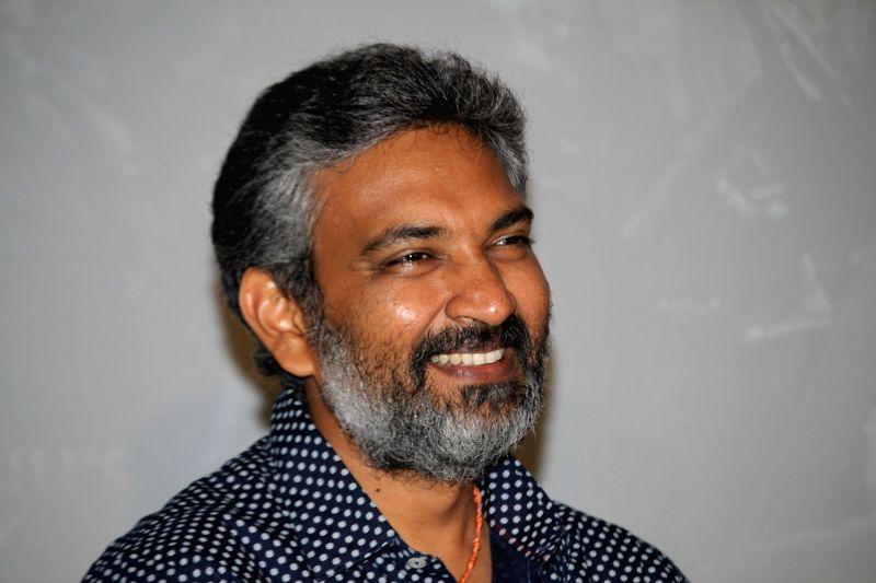 Mumbai: South Indian filmmaker S S Rajamouli during the song launch of film Baahubali, in Mumbai on June 25, 2015.