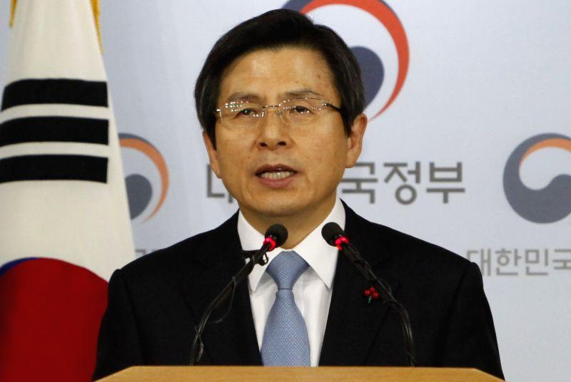 South Korea acting President Hwang Kyo Ahn. (File Photo: IANS)