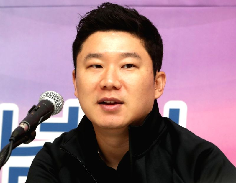 South Korean shooter Jin Jong-oh speaks at a team press conference in Seoul on July 30, 2018, about the upcoming Asian Games. The 38-year-old Olympic medalist said his fifth entry at the Asiad ...
