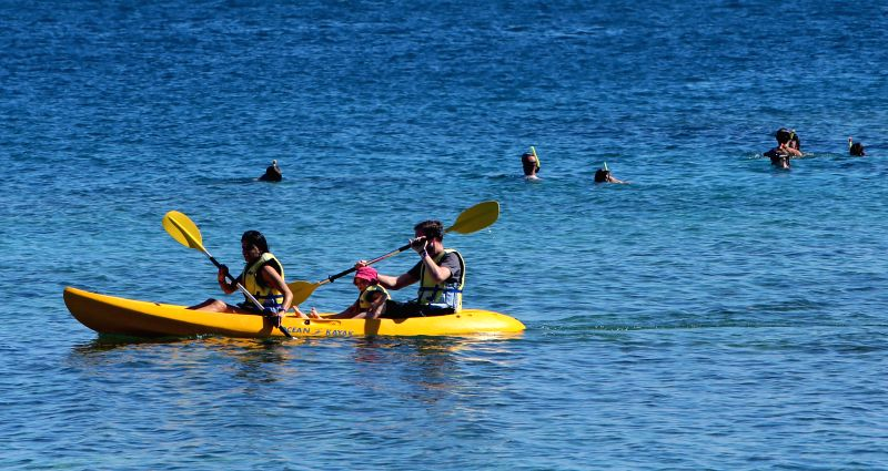 Tourist enjoy themselves on the South Sea island of Fiji, June 21, 2014. Fuji is an island country in the South Pacific Ocean with more than 332 islands, ..