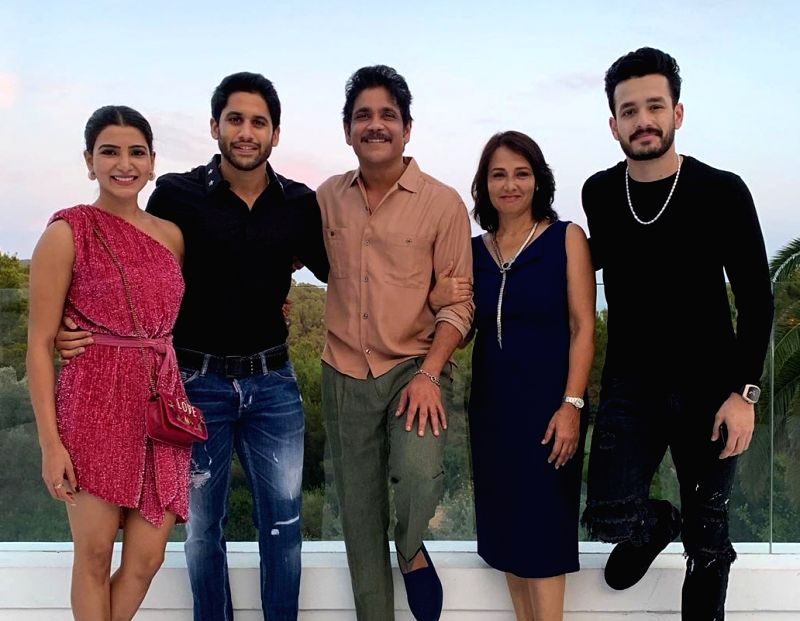 South star Nagarjuna Akkineni, who turned 60 a few days ago, is having a gala time with his family in Spain.