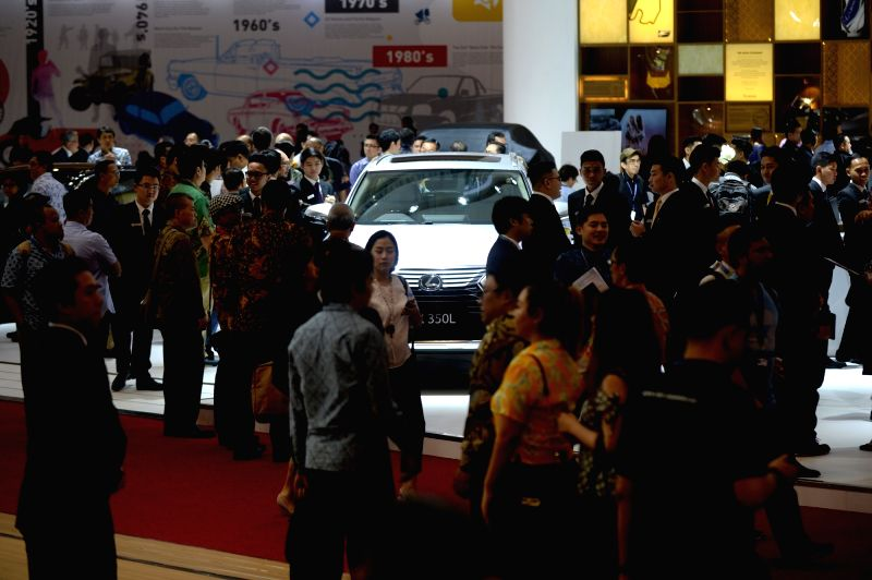 SOUTH TANGERANG, Aug. 2, 2018 - People visit the GAIKINDO Indonesia International Auto Show (GIIAS) 2018 held in South Tangerang, Indonesia, on Aug. 2, 2018.
