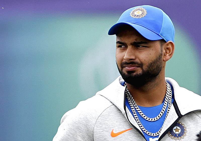 Southampton: India's Rishabh Pant during a practice session ahead of a World Cup 2019 match against Afghanistan at the Hampshire Bowl in Southampton, England on June 19, 2019. (Photo: Surjeet Yadav/IANS)