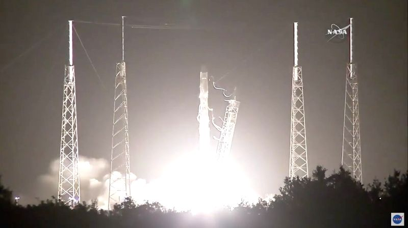SpaceX?s Dragon cargo craft with almost 2,300 kgs of cargo was launched on a Falcon 9 rocket from Space Launch Complex 40 at Cape Canaveral Air Force Station in Florida on Monday. Photo: NASA