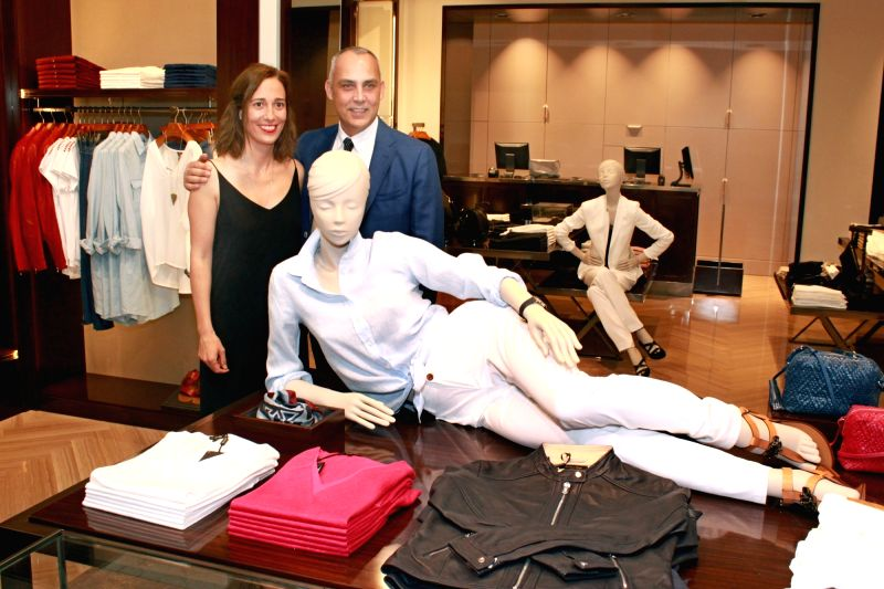 Spanish fashion brand Massimo Dutti launches its first store in New Delhi on May 12, 2016.