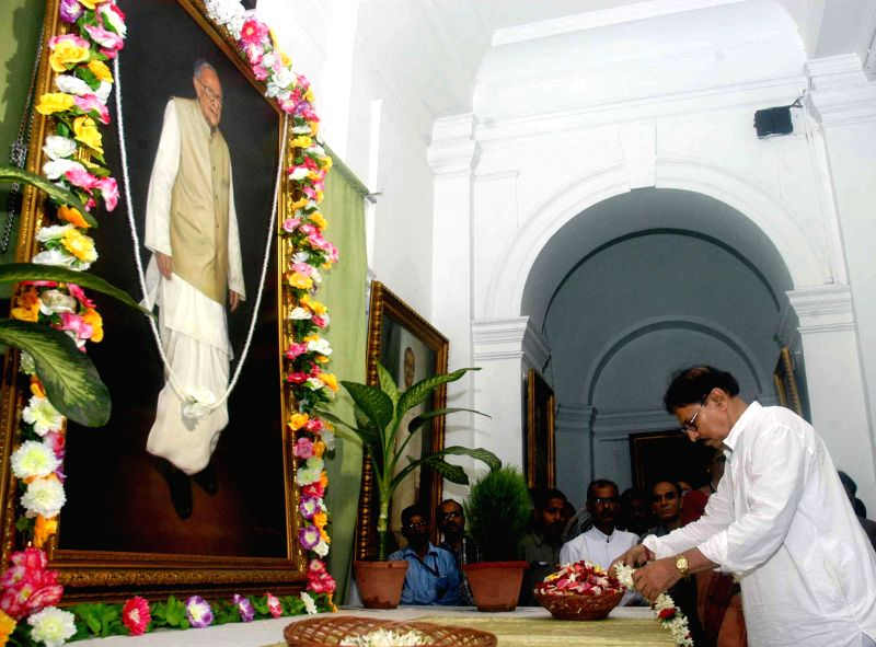 Speaker of the West Bengal Legislative Assembly Biman Banerjee pays tribute to former West Bengal Chief Minister and veteran Marxist leader Jyoti Basu  on his 100th birth anniversary at West Bengal ..