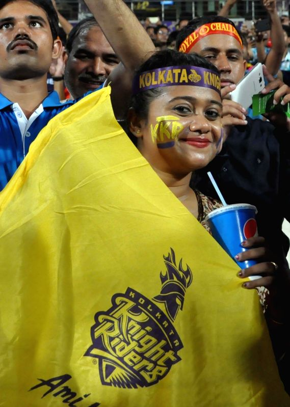 Spectators during an IPL 2017 match between Kolkata Knight Riders and Royal Challengers at Eden Gardens in Kolkata on April 23, 2017.