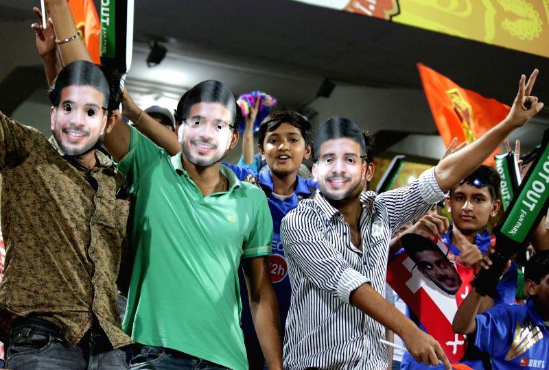 Spectators during an IPL 2017 match between Gujarat Lions and Mumbai Indians at Saurashtra Cricket Association Stadium in Rajkot on April 29, 2017.