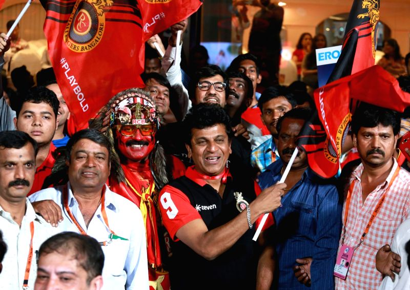 Spectators during an IPL 2018 match between Kings XI Punjab and Royal Challengers Bangalore at M.Chinnaswamy Stadium in Bengaluru on April 13, 2018.