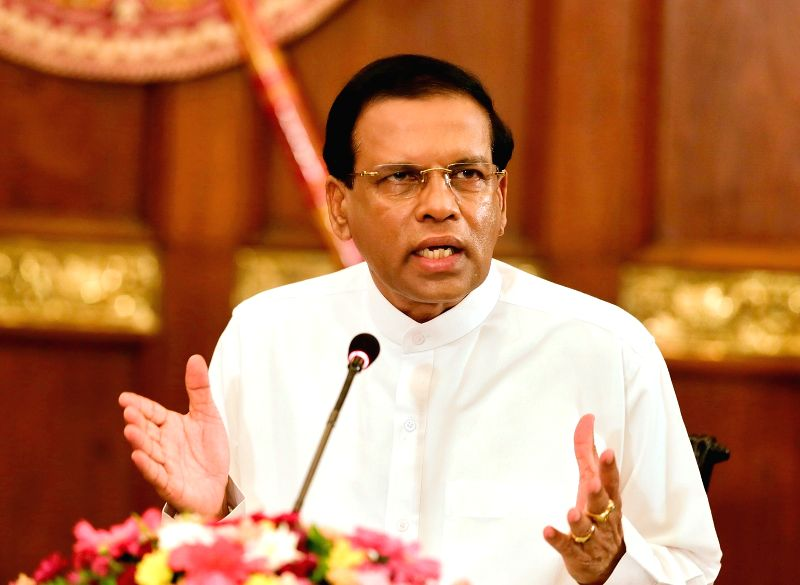 Sri Lankan President Maithripala Sirisena makes a special statement to ...