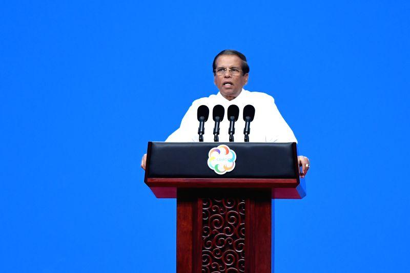 Sri Lankan President Maithripala Sirisena. (Xinhua/Ju Huanzong/IANS)