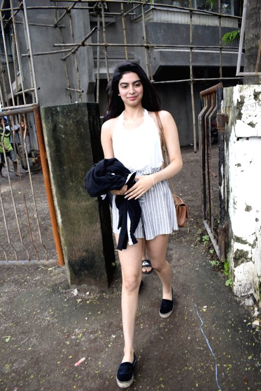 Sridevi's daughter Khushi Kapoor seen at a salon in Juhu, Mumbai's Bandra on July 24, 2018. - Khushi Kapoor
