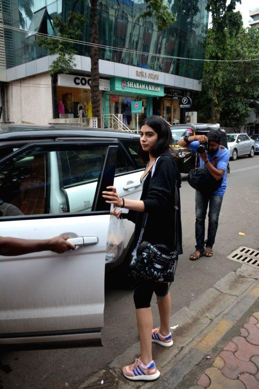Sridevi's daughter Khushi Kapoor seen at Mumbai's Bandra on Aug 10, 2018. - Khushi Kapoor