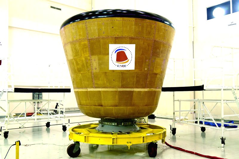 Indian Space Research Organisation (ISRO)`s new crew module (Care) which would be launched by LVM 3 in an experimental mission from Satish Dhawan Space Centre at Sriharikota between ...