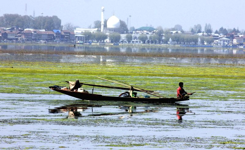 A spectacular view of the Dal Lake in Srinagar, on April 19, 2015.